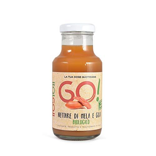 Nettare di Mela e Goji BIO - 100% ITALIANO - SENZA ZUCCHERO - 6 x 200 ml