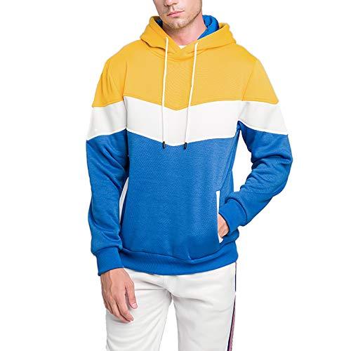 VANVENE - Sudadera con capucha para hombre con capucha y manga larga para hombre