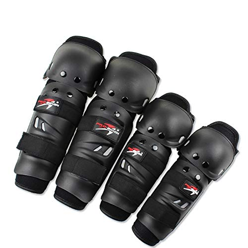 HKD Adultos Moto Codo Rodilleras con Cierre de Velcro Ajustable Hombres o Mujeres Kit de Carreras de Motocross