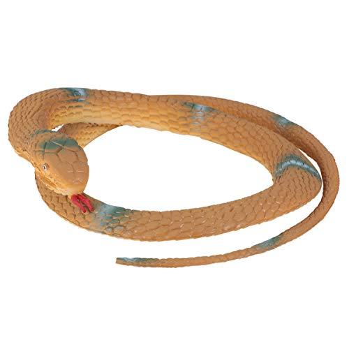 STOBOK Realistisches Schlangenspielzeug Gummischlangenfigur Gefälschtes Schlangenspielzeug Gruselige Knebelgeschenkdekorationen für Halloween-Streichstützen Gelb