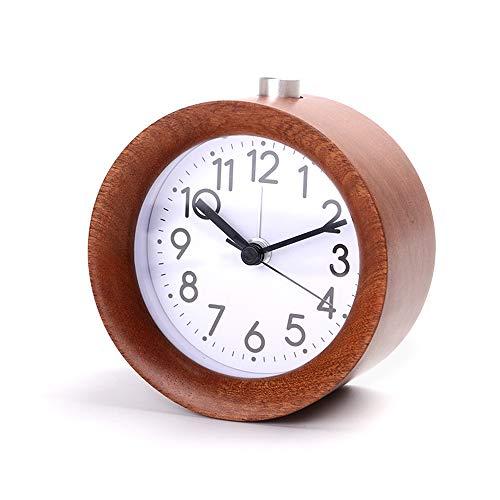 IWILCS Clásico reloj despertador analógico de viaje, despertador analógico sin tic tac, despertador analógico sin tictac, despertador de viaje, alarma de alarma, para la oficina del dormitorio