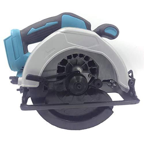 Sierra circular inalámbrica de 7 pulgadas con 2 baterías de litio y cargador rápido, para carpintería, corte de mármol y más