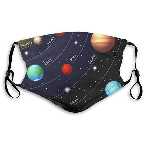 VOSGA Space Galaxy Solar System Face Custom Reusable Half Buff Face Mask Funny Cute Balaclava Bandana Cloth Warmer