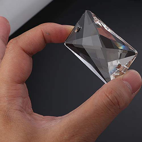 Herramientas AiCheaX - Lámpara de araña de cristal transparente Parte caída Prisma Arco Iris Cuentas colgantes para la decoración del hogar 5030 mm
