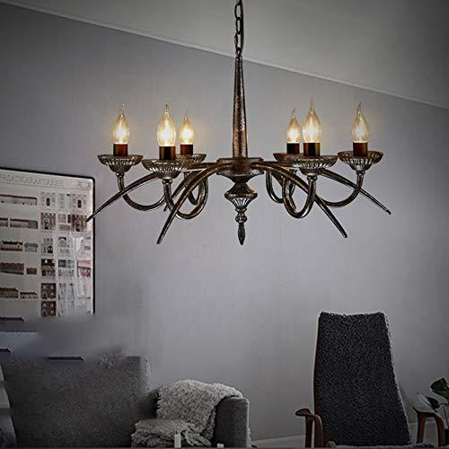 Hines 6 Luces E14 Candelabros Industriales De Interior Decoración Ajustable Lámpara De Techo Simplicity Light Lámpara Colgante De Lujo Nostalgia Hierro Techo Colgante Farolillos Luz De Suspensión