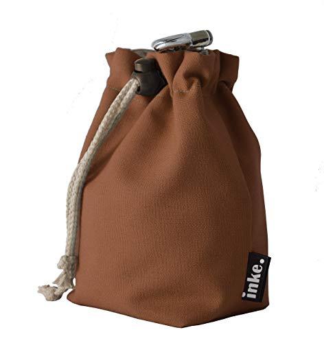 inke. Festivalbeutel aus Baumwolle, braun - Hochwertige Accessoire-Tasche | Handarbeit aus Norddeutschland