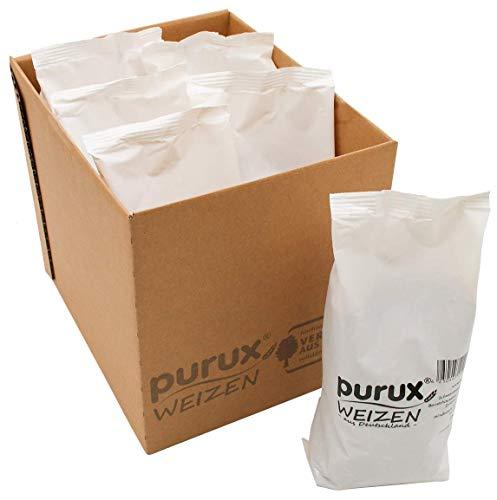 Purux Weizen aus Deutschland 4,5 kg ganze Körner (6x 750g)