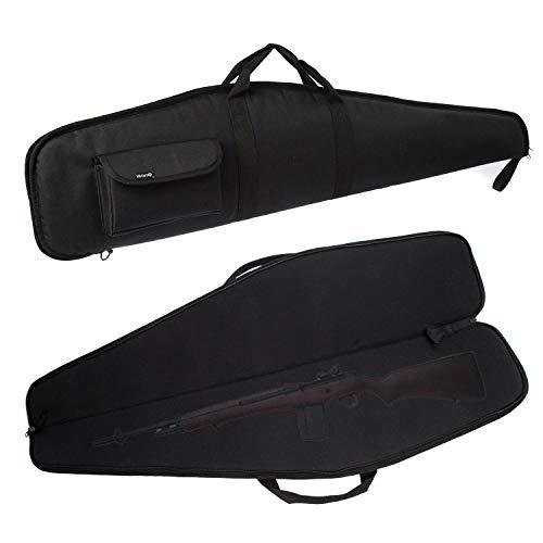 G GATRIAL Soft Rifle Cases Long Single Gun Bag Outdoors Range Hunting Shooting Firearm Transportation Cases with Foam Padding Classic Carry Bag Black 44'