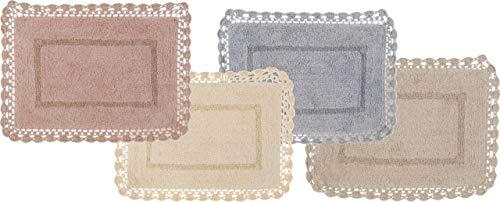 Blanc Mariclo CAMCAMINì Alfombra de baño en algodón 40x60cm A28775 Rosa