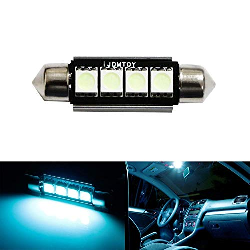 iJDMTOY 4-SMD Error Free 6411 578 LED Bulb Compatible With Car Interior Dome Light or Trunk Area Light, Ice Blue