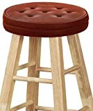 Big Hippo Bar Stool Cushions, Memory Foam Round Bar Stool Covers Nonslip Backing Seat Cover with Elastic Band 12inch Chair Pad Cushion(Brown - 1pc)