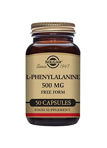 Solgar L-Phenylalanine 500 mg Vegetable Capsules - Pack of 50