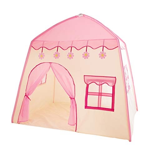 CHANG-dq Children's Play Space, House-shaped Tents Infant Nap Tents DIY Decorative Tents Bedroom Tents Play House Tents / Cute Decoration Household Tents ( Color : Pink , Size : 130*100*130CM )