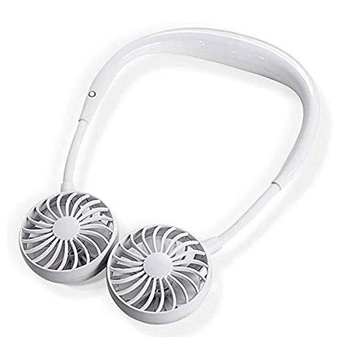 LKK-KK Multi-Funcional Colgante Ventilador Recargable Cabeza Banda for el Cuello del Ventilador portátil USB del Ventilador del Aire del Ventilador de refrigeración for el hogar (Blanco)