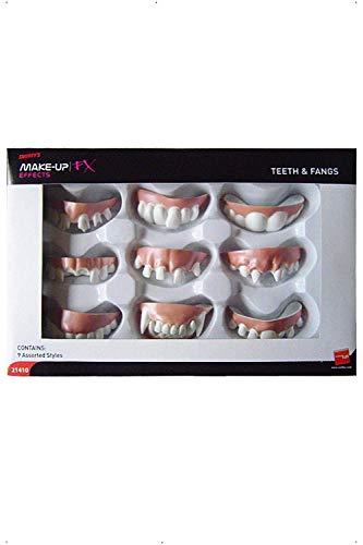 Halloween! Smiffys Zähne und Fangzähne, Weiß, 9 Verschiedene Stile