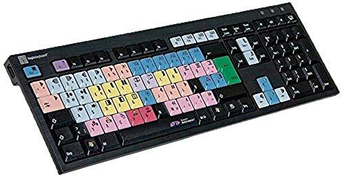 LogicKeyboard LKB-MCOM4-BJPU-DE Avid Media Composer PC Nero Tastatur mit LogicLight