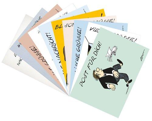 DIN A6-Postkarten-Set von Inkognito ++ Viele Grüße mit Loriot