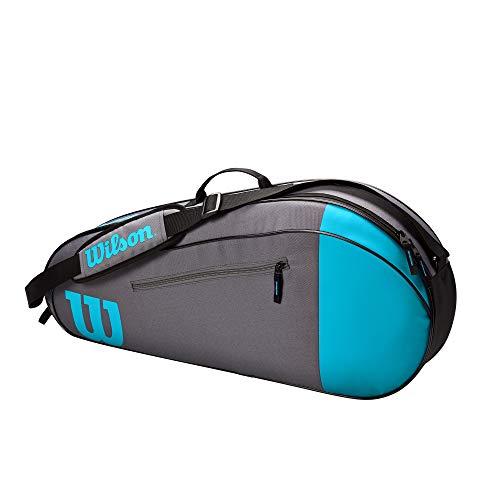 Wilson Tennistasche Team 3, Bis zu 3 Schläger, Blau/Grau, WR8011501001
