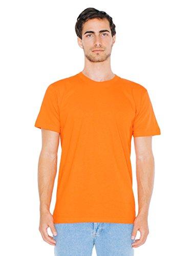 T-shirt à Manches Courtes en Coton Jersey Fin - Orange / 3XL