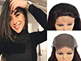 Lace Closure Wigs Human Hair Straight 5x5 Free Part Glueless More Natural Look Soft Brazilian Unprocessed Next Day Delivery Long 10 inch