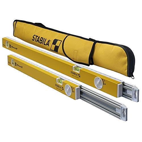 Stabila 29441K 25-41 Inch and 36-59 Inch Type 80T Extendable Two Spirit Level Kit With Nylon Carrying Bag Always Have The Right Length of Level To Do The Job