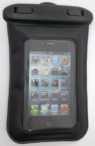 Elbe FI-008 waterdichte beschermhoes voor smartphone, beschermt tegen water, zand en stof, zwart