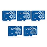 JUANWE 5 Pack 32GB Micro SD Card, Memory Card 32GB C10 TF Card High-Speed Card for Smartphone/Bluetooth Speaker/Tablet/PC/Camera (5 Pack)