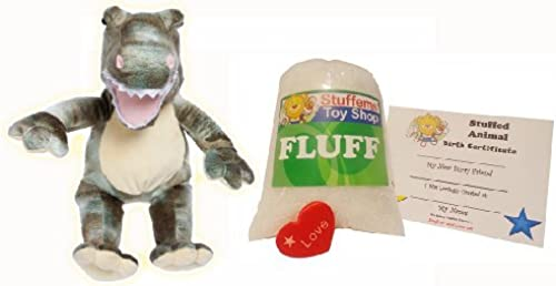 Make Your Own Stuffed Animal Mini 8 Inch Dyno Dinosaur Kit - No Sewing Requirot  by Stuffems Toy Shop