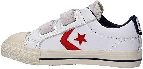 Converse Lifestyle Star Player Ev 2v Ox, Chaussons bébé garçon, Multicolore (White/Gym Red/Turtledove 100), 20 EU