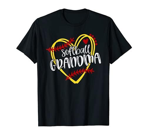 Softball Grandma, Softball Tshirt for Womens and Girls
