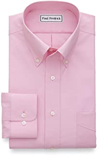 Men's Tailored Fit Non-Iron Cotton Solid Button Down...