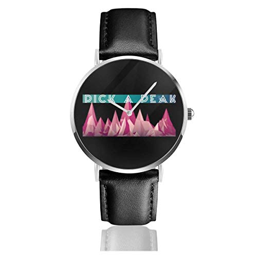 Unisex Business Casual Pick A Peak Watches Reloj de Cuero de Cuarzo
