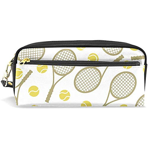 Pen Zipper Bag,Porta-Lápices De Raquetas Y Pelotas De Tenis, Bolsas De Pincel De Maquillaje Casual Para Adultos Niños Niñas