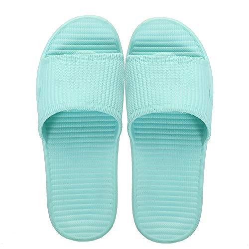 LIN-Reliable Verano De Las Mujeres De Baño Mujeres Zapatillas Zapatos De Interior Antideslizante Inicio EVA Zapatillas Ligera Badslippers Sandalias De Playa Diapositivas Green-7 UK