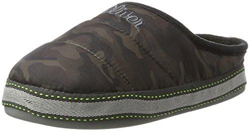 s.Oliver Unisex-Kinder 47101 Pantoffeln, Mehrfarbig (Camouflage), 35 EU
