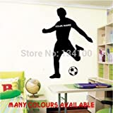 nkfrjz Kunden gemacht Hot Football Personlized Name Kunst Sport Wand für Kids Boys Decal Home Decor wandaufkleber kinderzimmer