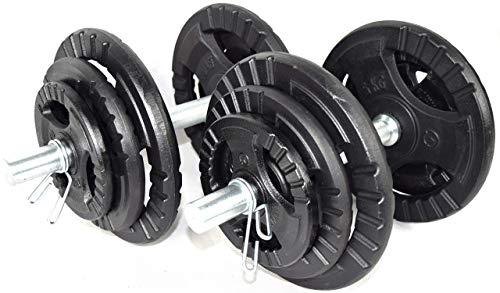 Gusseisen Hanteln Set Gewichtssatz Einstellbare Gewichte KAWMET 2x20kg | 40 kg
