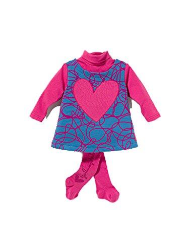 Agatha Ruiz de la Prada - Vestido Cuello Alto, Bebe niña, Color: Rosa/Azul (36 Meses)