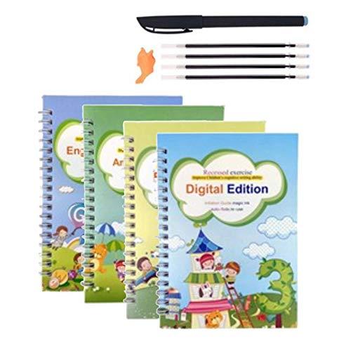 Copybook, Magic Calligraphy Copybook, Practice Copybook, papel grueso inglés, para niños, caligrafía