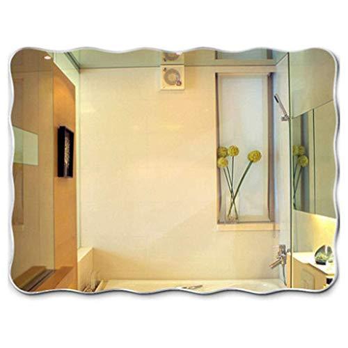 ZHAOJYZ Household badkamerspiegel transparant wandspiegel wandspiegel zonder frame badkamer wastafel spiegel 40 x 60 cm materiaal glas geschenk