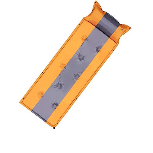 PrittUHU Colchón Inflable automático Que acampa la Estera del Dormir y la Almohada al Aire Libre Ultra Ligera Tienda portátil para Dormir para Dos y uno (Color : Single Orange 5cm)