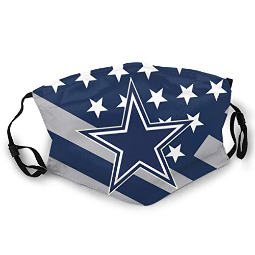 VF Dallas Cowboys Ddust-Proof Mouth Cover Mask Unisex Face Protection for Outdoor