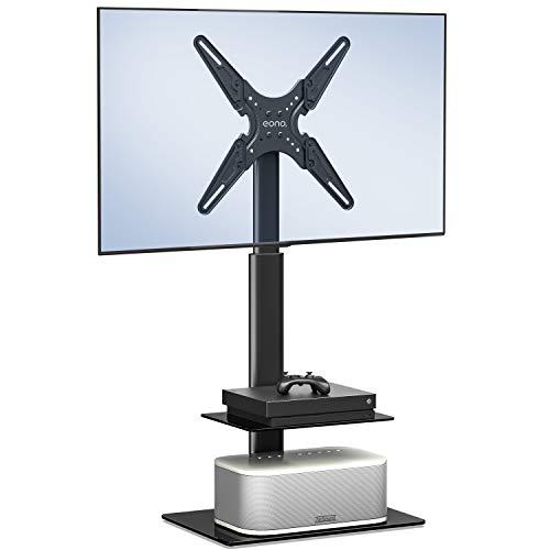 Eono by Amazon Piedistallo TV Universale da 19-55 Oollici con Staffa in Altezza Regolabile per LED LCD QLED OLED con 2 Ripiani Max.VESA:400x400mm,30kg TV