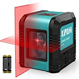 Nivel Láser, Nivel Láser Cruzado Kiprim LV1R Láser Vertical/Horizontal de Doble Línea, IP54 a prueba de polvo, impermeable, antigoteo de 1 m, nivelación automática de ± 4 °