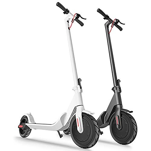 GAOwi Scooter eléctrico 8.5 Pulgadas Aleación de Aluminio Adulto Mini con Dos Ruedas Scooter eléctrico Plegable con una Capacidad de Carga de 200 kg y una Velocidad máxima de 20 km por Hora,Blanco
