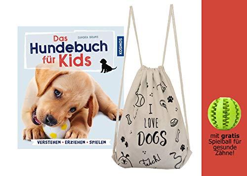 YellowMedia Das Hundebuch für Kids: verstehen, erziehen, Spielen + stylischer Beutel & gratis Hunde-Spielball für Zahnpflege, Welpenerziehung