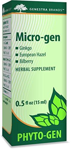 Genestra Brands - Micro-gen - Gingko, European Hazel, and Bilberry Herbal Supplement - 0.5 fl. oz.