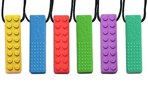 Tilcare Chew Chew Collier à Macher - Meilleurs collier à macher pour les enfants autistes – colliers à mâcher en silicone durables et solides - Pendentif à mâcher pour garçons et filles