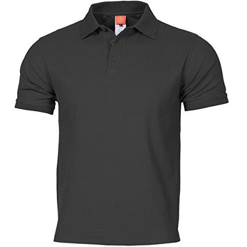 Pentagon Hombres Aniketos Polo T-Shirt Negro Tamano XS
