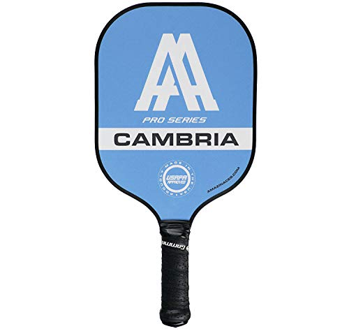 Amazin' Aces 'Cambria' Pickleball Paddle | USAPA Approved | Composite Racket - Advanced Polymer Core with Polycarbonate Face & Premium Gamma Grip | Made in The USA | Pro Series (Black)